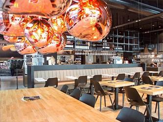 Coronaproof locatie in een restaurant om Coronaproof te werken