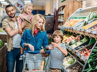 Coronaproof locatie in een supermarkt om Coronaproof te werken