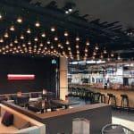 Kebaya Asian Brasserie op Amsterdam Schiphol heeft een nieuw grootkeuken blussysteem van Nobel Fire Systems met brandblusser afzuigkap horeca.