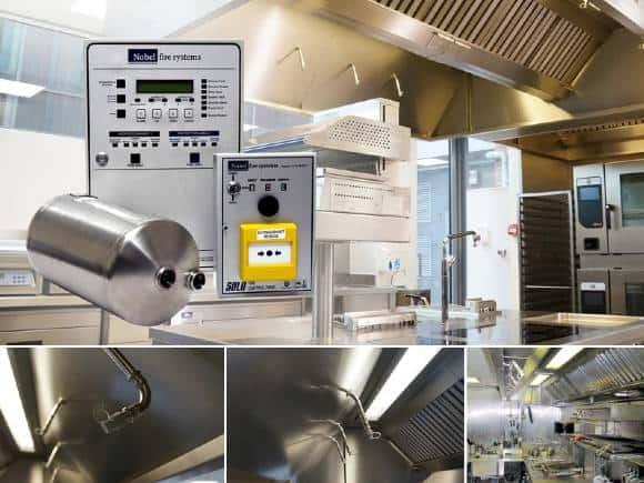 Vergroot grootkeuken brandveiligheid met Nobel Fire Systems K-Serie keukenbrand blussysteem keuken